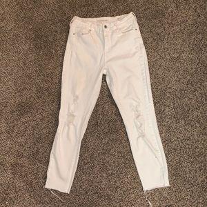 Pacsun/ Bullhead White Denim Jeans with Holes